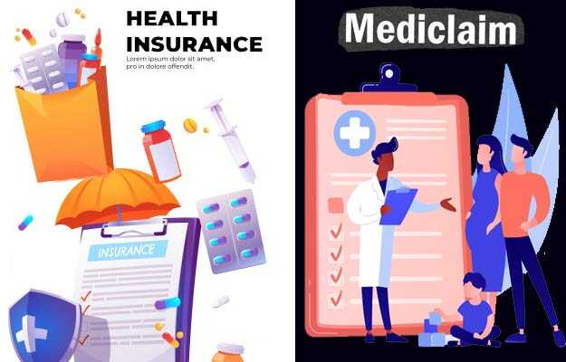 Difference between health insurance and mediclaim