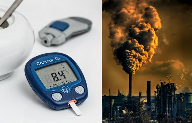 Pollution increases the risk of diabetes says research